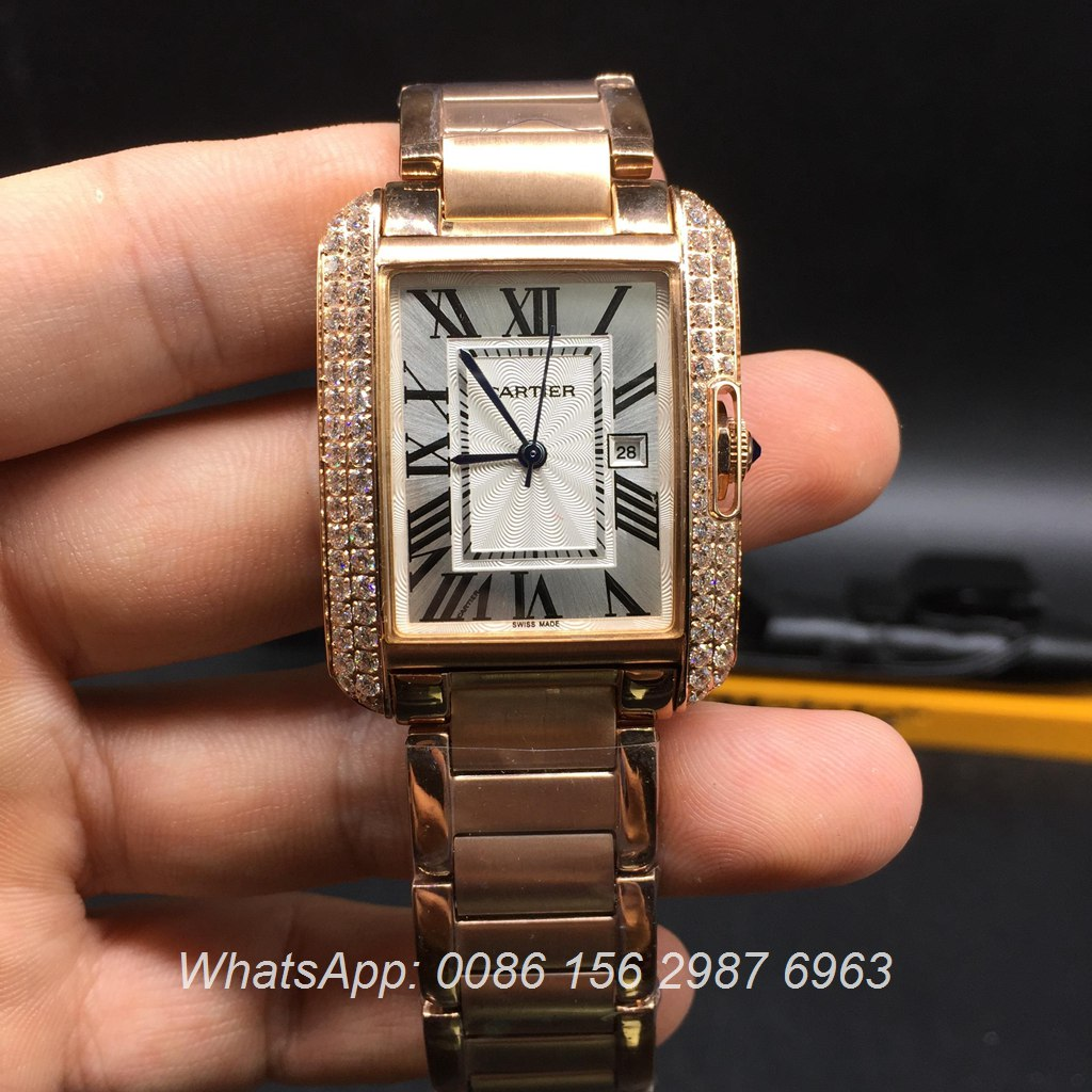 C028Z12, Cartier Tank Rose gold