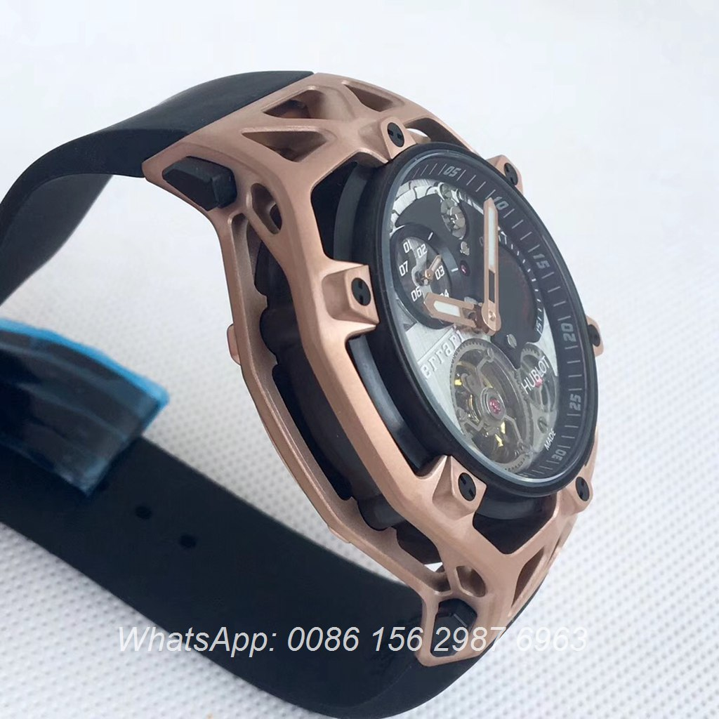 H075HL22, Hublot Techframe Ferrari rose gold
