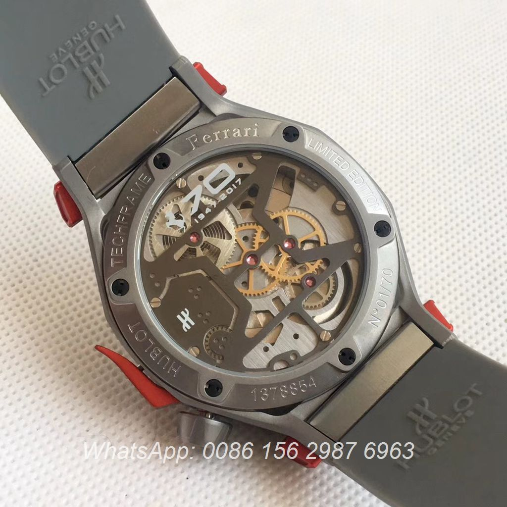 H075HL23, Hublot Ferrari 70th anniversary Techframe Gray