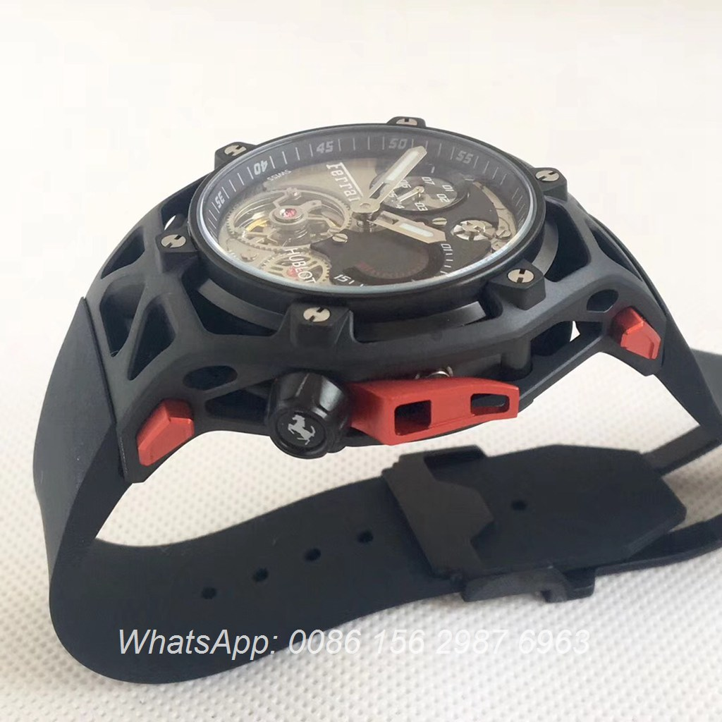 H075HL24, Hublot Ferrari 70th years Techframe Black