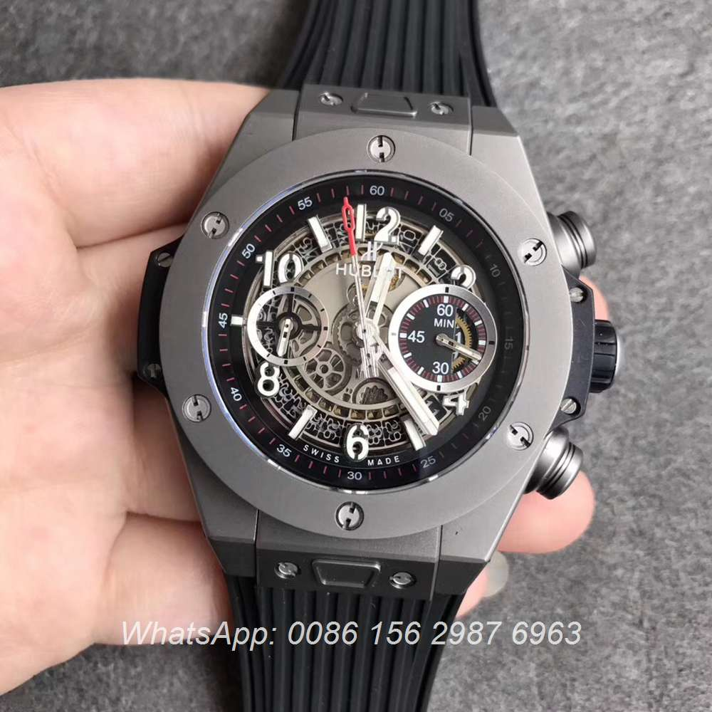 H170WT59, Hublot Gray Big Bang Manual 7750