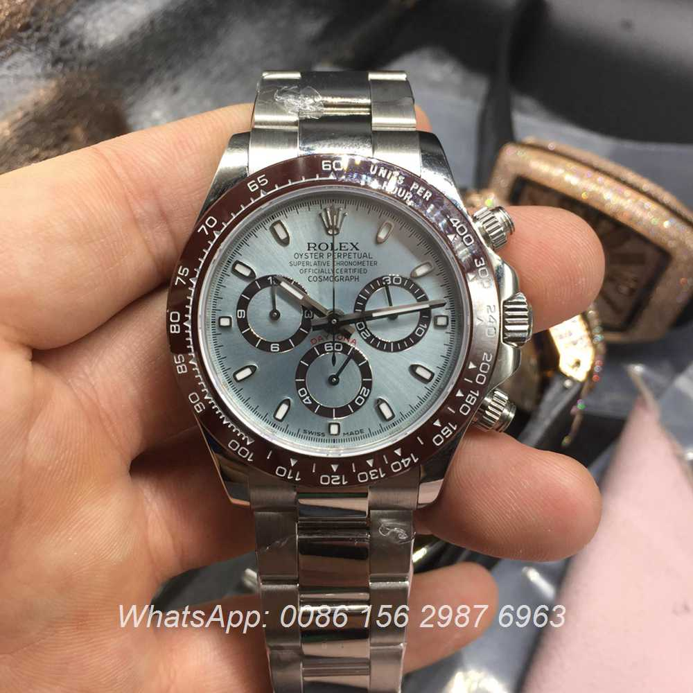 R100WT35, Rolex Daytona ETA 7750 light blue dial