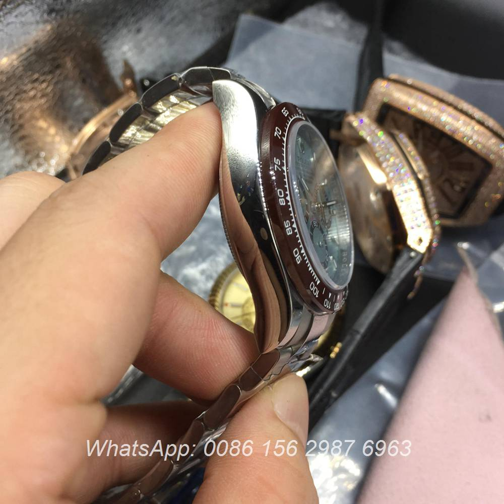 R100WT35, Rolex Daytona ETA 7750 light blue dial