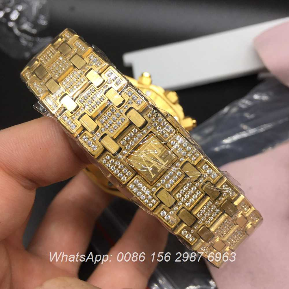 A110BL72, AP gold diamonds quartz yellow gold