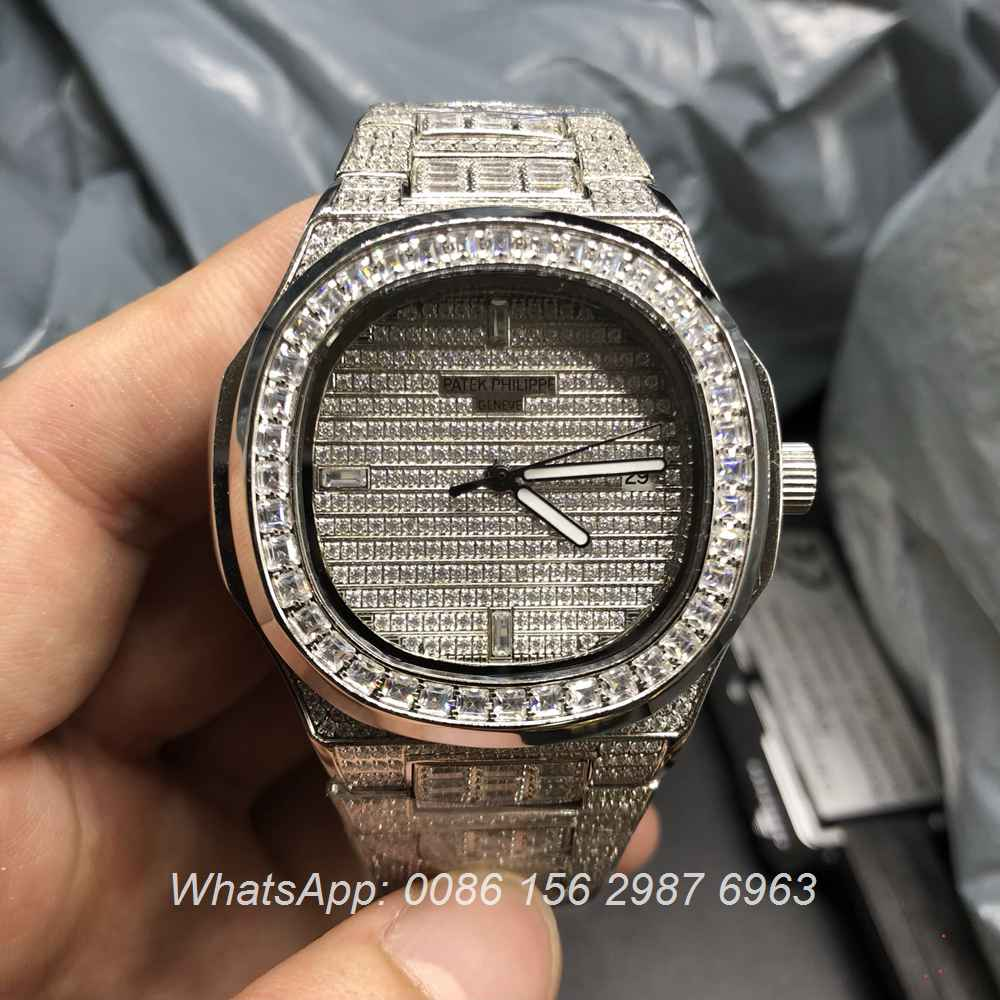 P170BL89, Patek Philippe iced square diamonds AAA automatic
