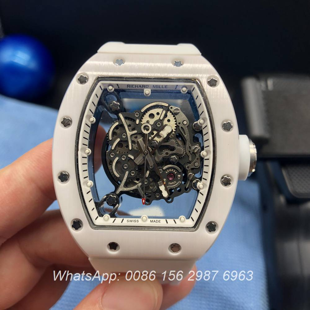 R085HL73, RM055 Richard Mille White ceramic case skeleton
