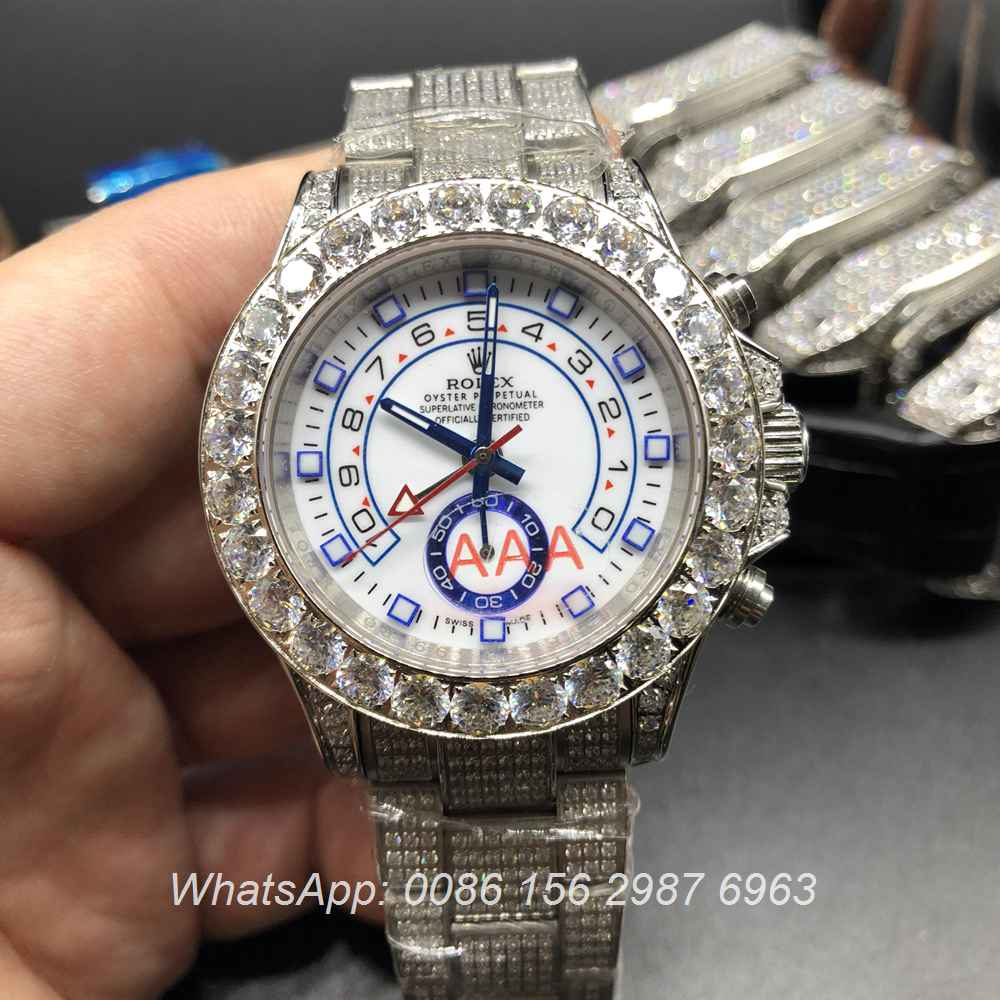 R110MH77, Rolex YM diamonds silver/white