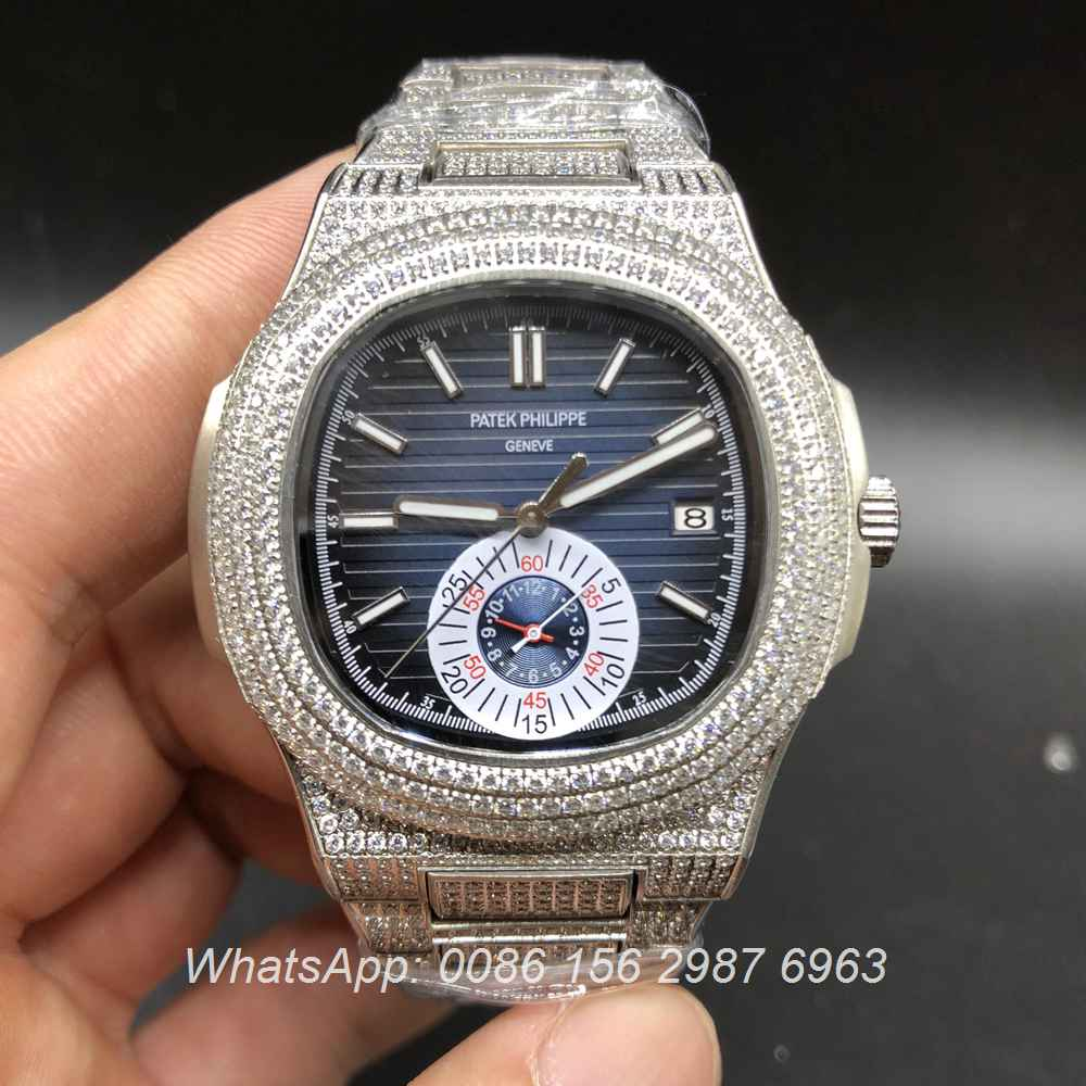 P165XJ86, Patek Philippe iced blue dial automatic