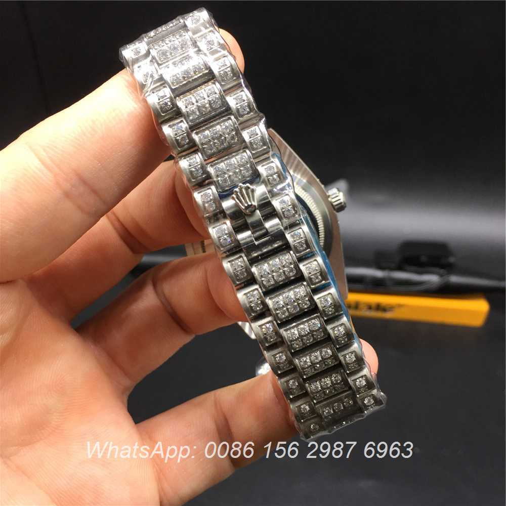 R92MH71, Rolex DayDate iced silver 36mm