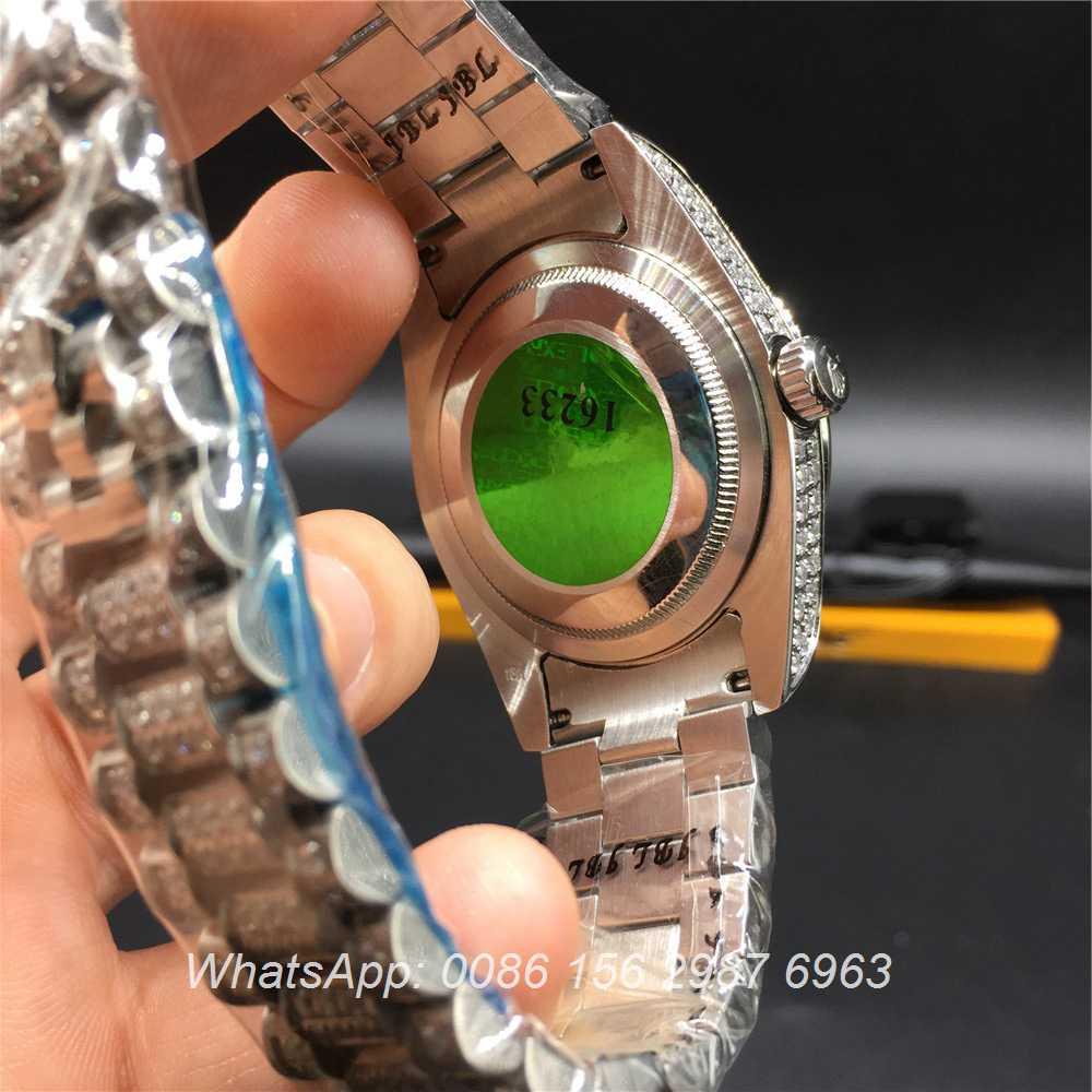 R92MH71, Rolex DayDate iced silver 36mm