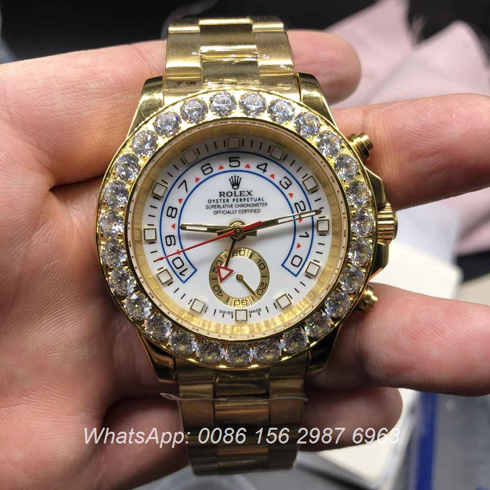 R028MH97, Rolex YMII diamonds bezel gold case 41mm
