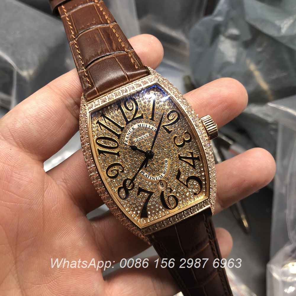 F0557D102, FM watch Franck Muller iced rose gold automatic
