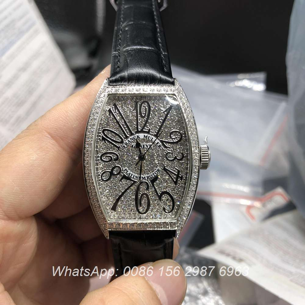 F0307D104, FM lady Franck Muller diamonds silver women size watch