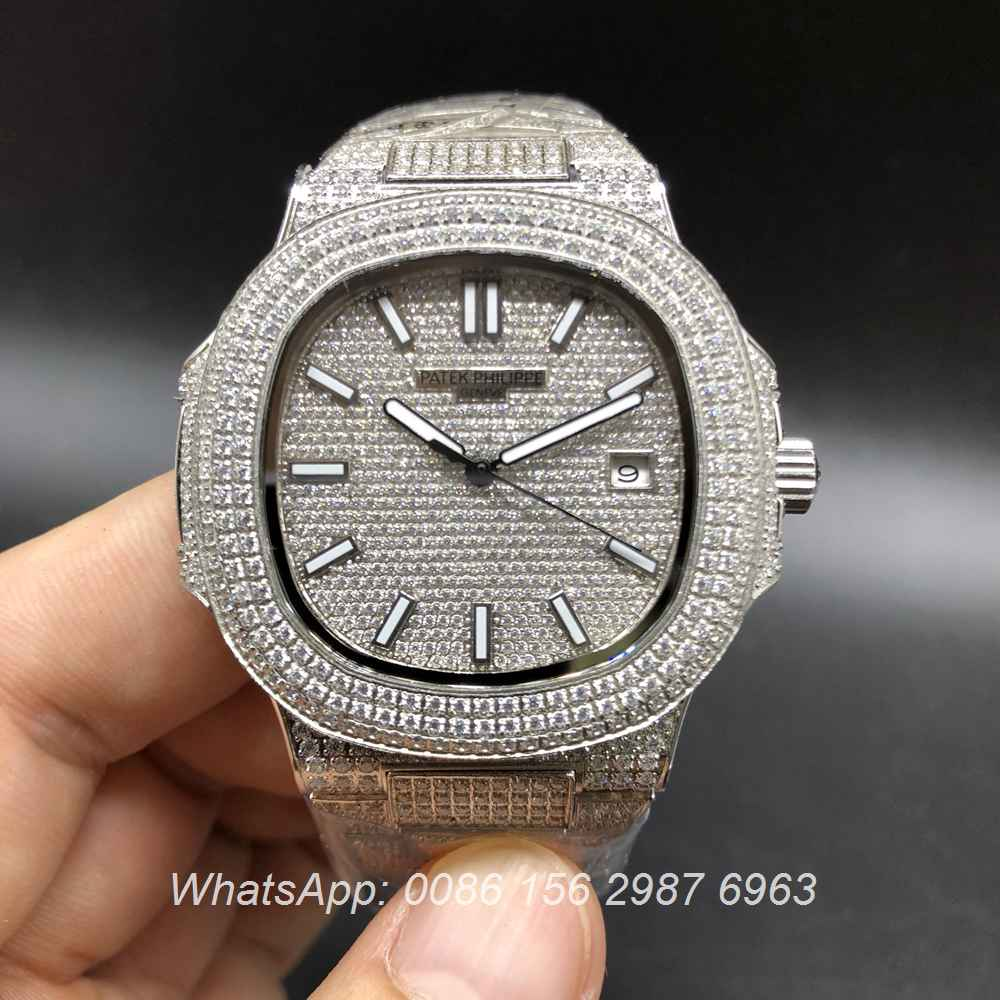 P180BL107, Patek Philippe iced silver automatic good price