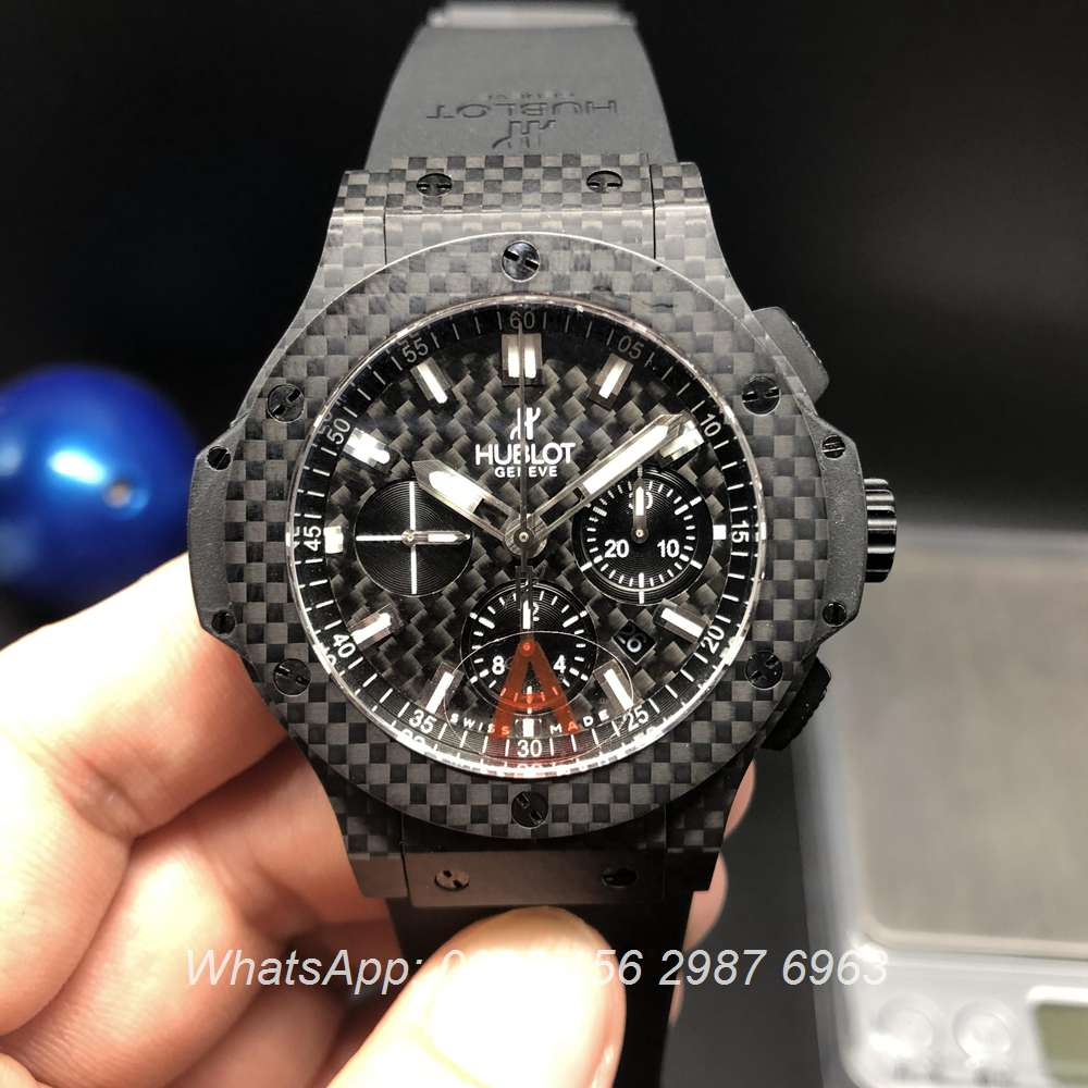 H175WT114, Hublot Carbon ETA 7750 Chronograph automatic watch