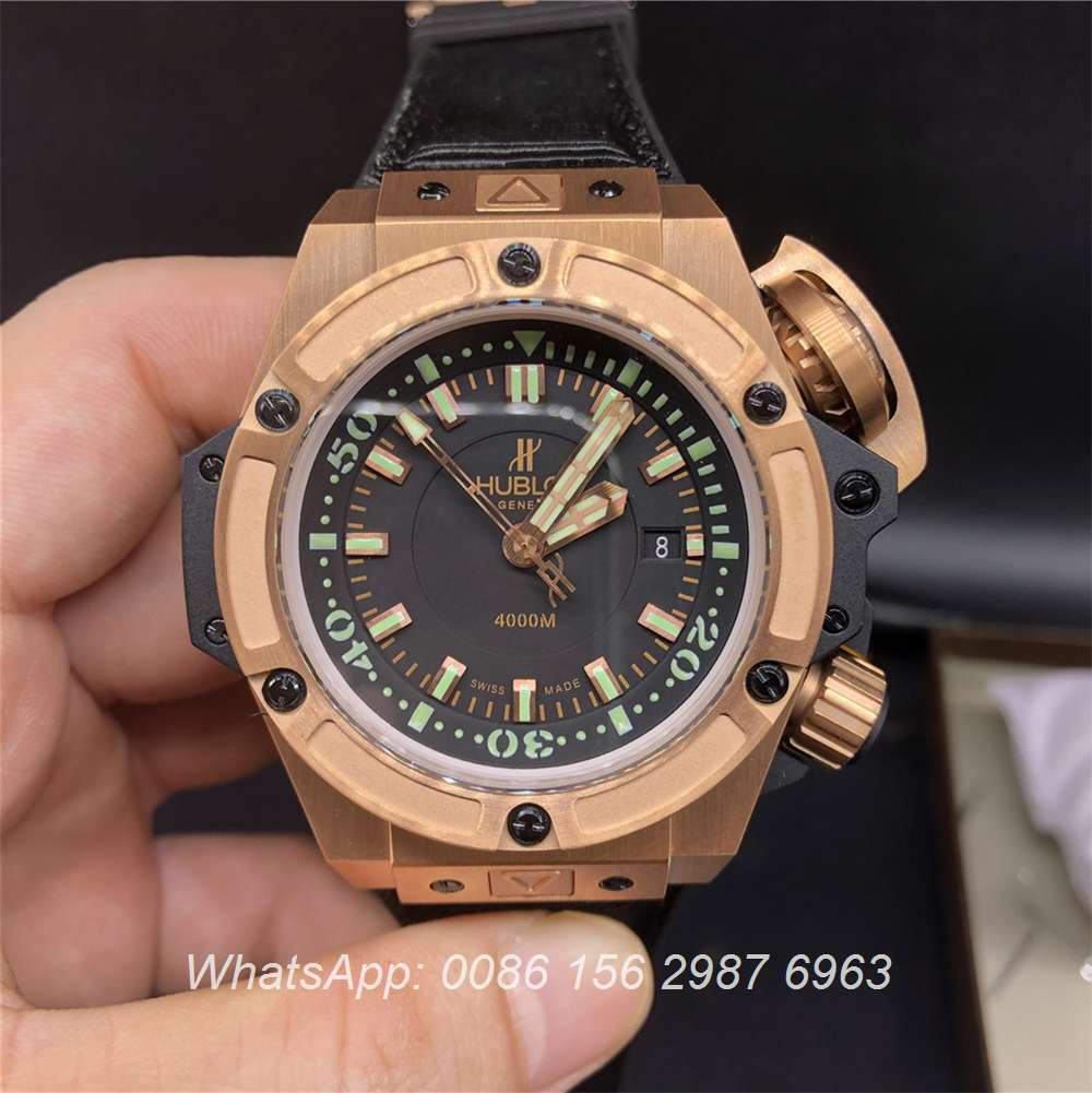 H265Z116, Hublot Oceanographic 4000 ETA 7750 fabric on rubber strap