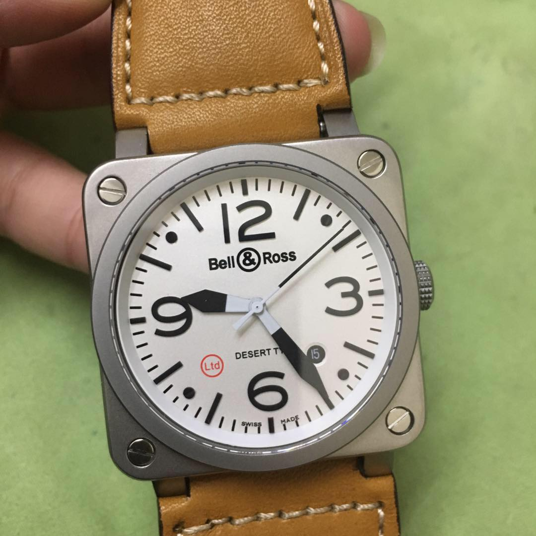 BR055Z122, Bell Ross Miyota automatic silver/white watch