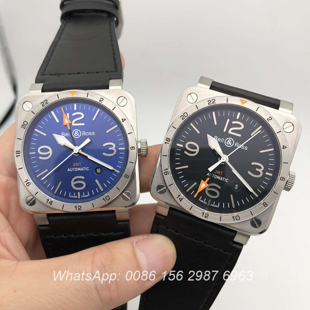 BR115WT123, Bell Ross GMT ETA 2824 high grade automatic watch