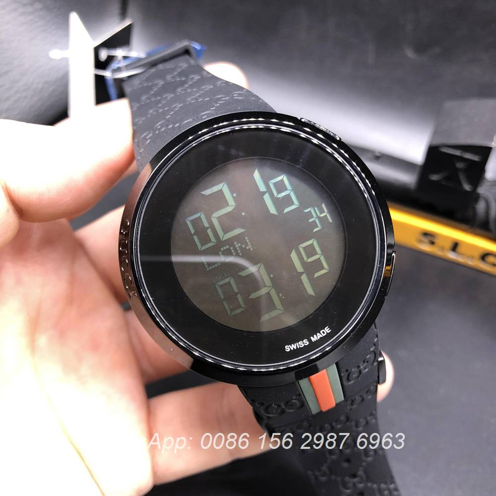 G032Z119, Gucci black digital classic watch