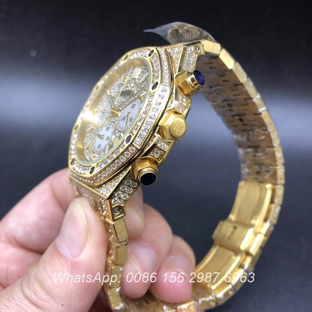 A160BL120, AP diamonds yellow gold watch Chronograph quartz