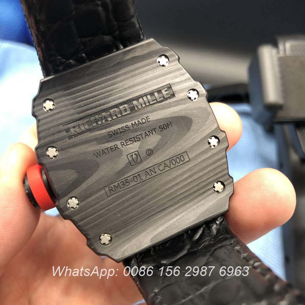 R150XD136, RM35-01 Richard Mille carbon case automatic men's watch