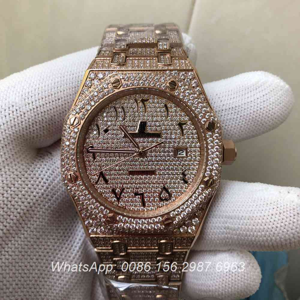 A200BL141, AP Diamonds rose gold Arabic numbers automatic AAA watch