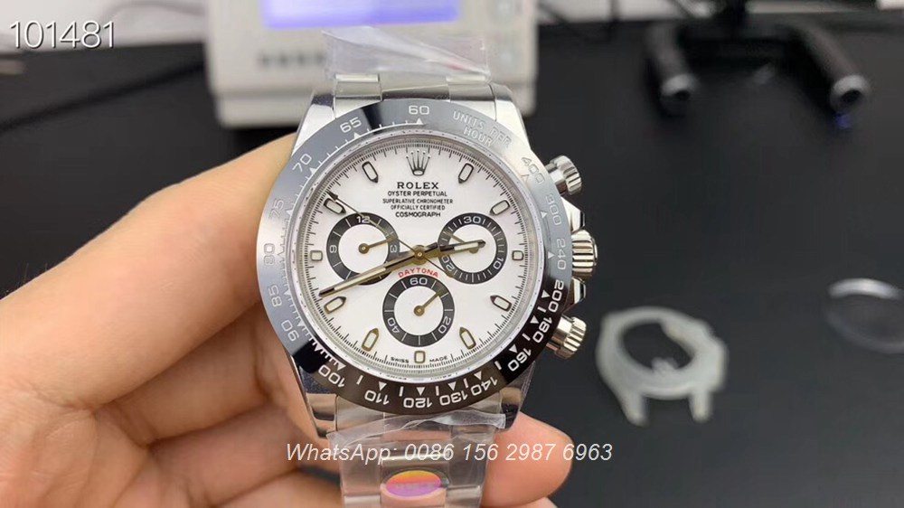 R330WT142, Daytona Noob 4130 full works 904L steel case 38.5mm