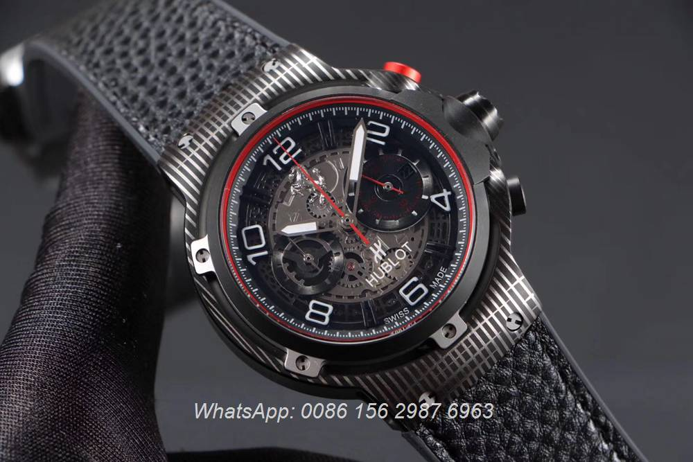 H070HL162, Hublot Ferrari GT quartz movement stopwatch 45mm