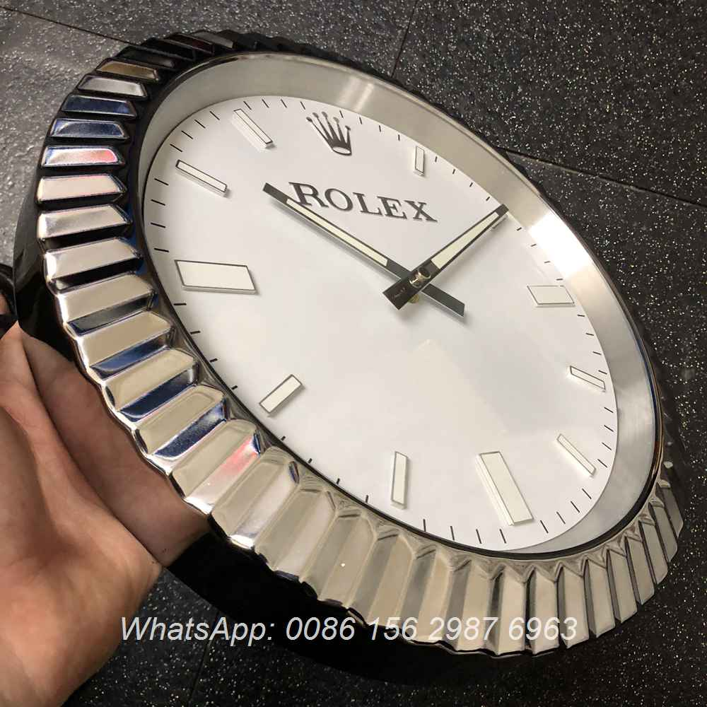 CLOCK156, Rolex white wall clock battery