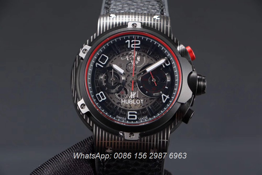 H070HL162, Hublot Ferrari GT quartz movement stopwatch 45mm