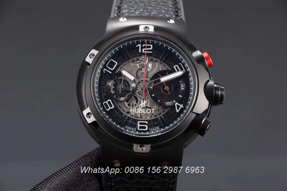 H065HL163, Hublot Ferrari GT quartz stopwatch 45mm black case