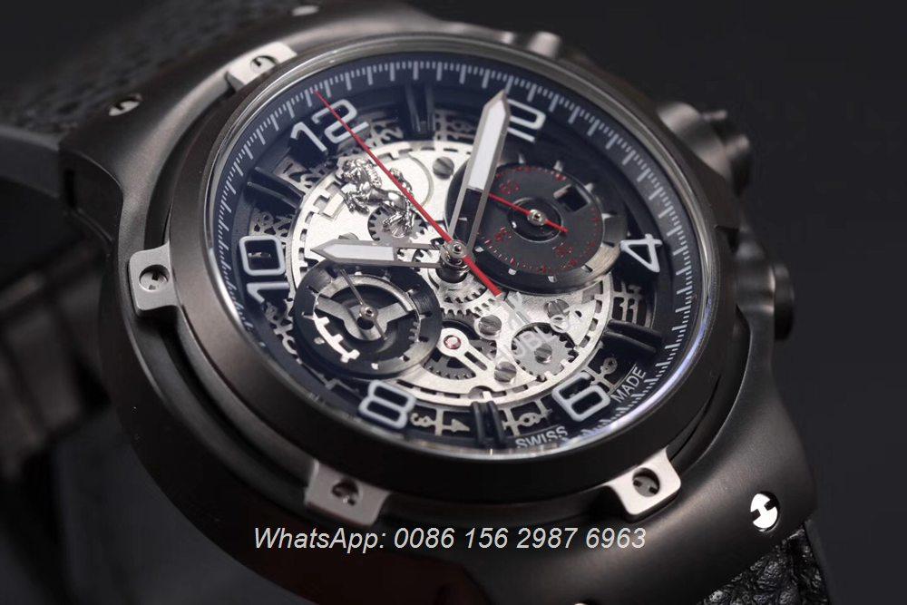 H065HL163, Hublot Ferrari GT quartz stopwatch 45mm black case