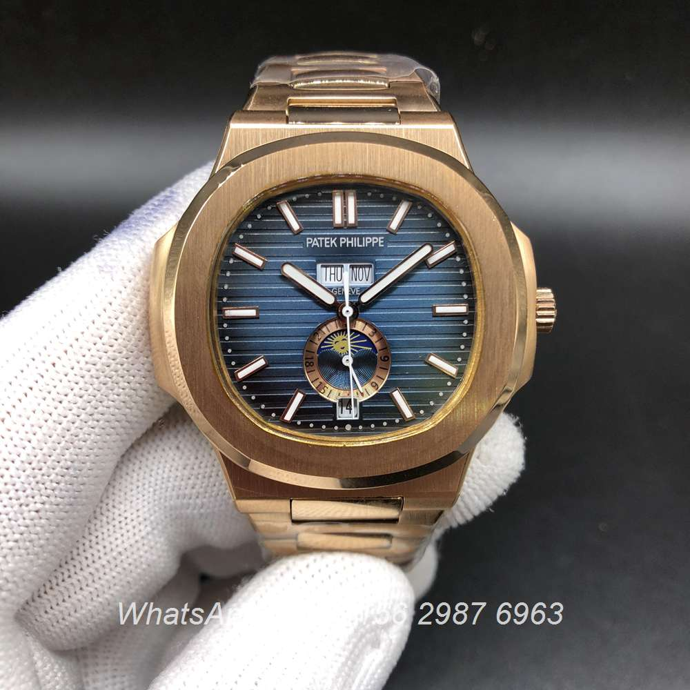 P036BL176, Patek Philippe 5726 automatic rose gold 40mm AAA