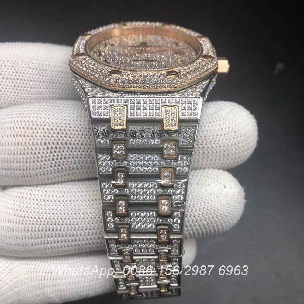 A20BL183, AP Arabic diamonds rose gold 2tone automatic shiny watch