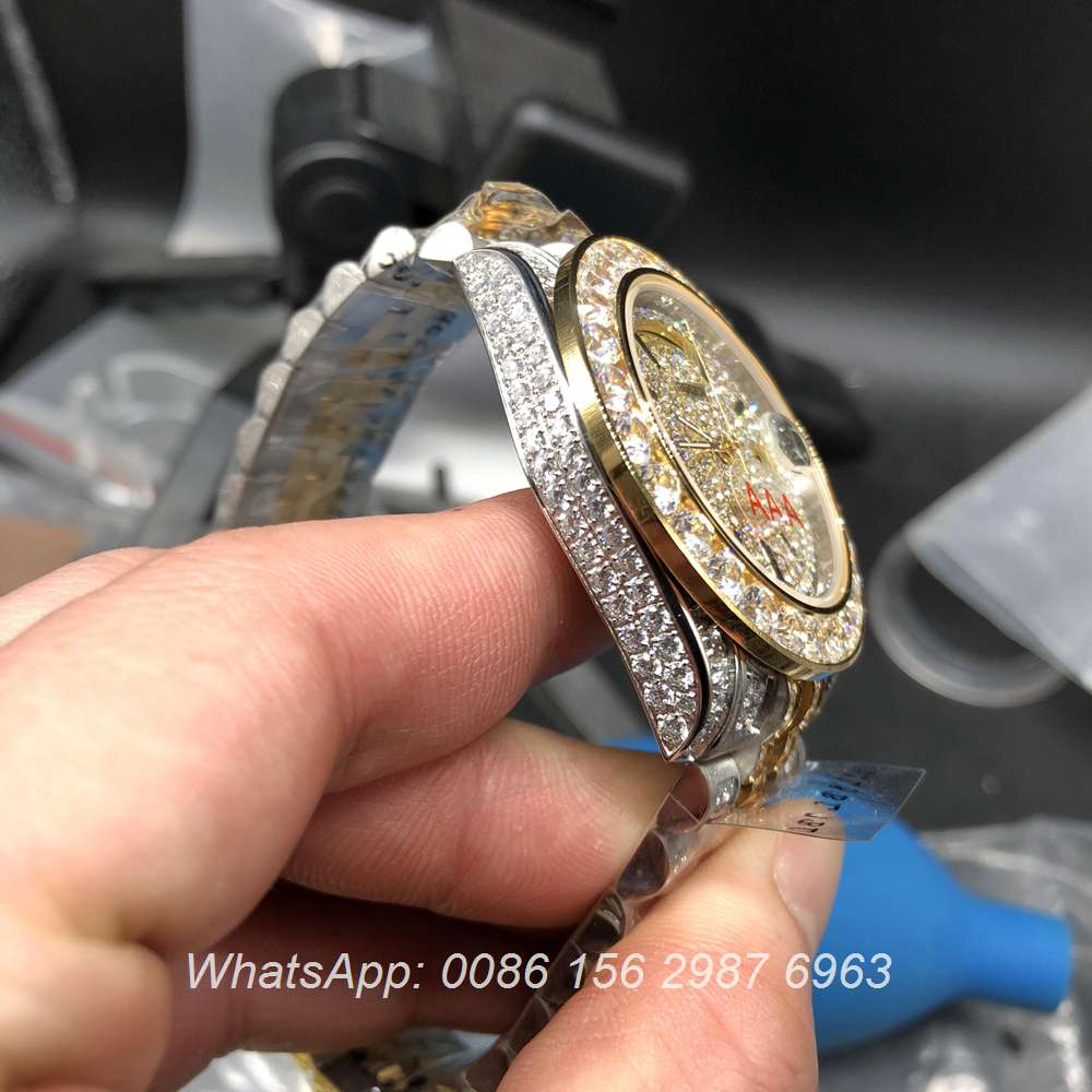 R105MH192, DayDate bi-color yellow gold case 40mm diamonds face jubilee strap
