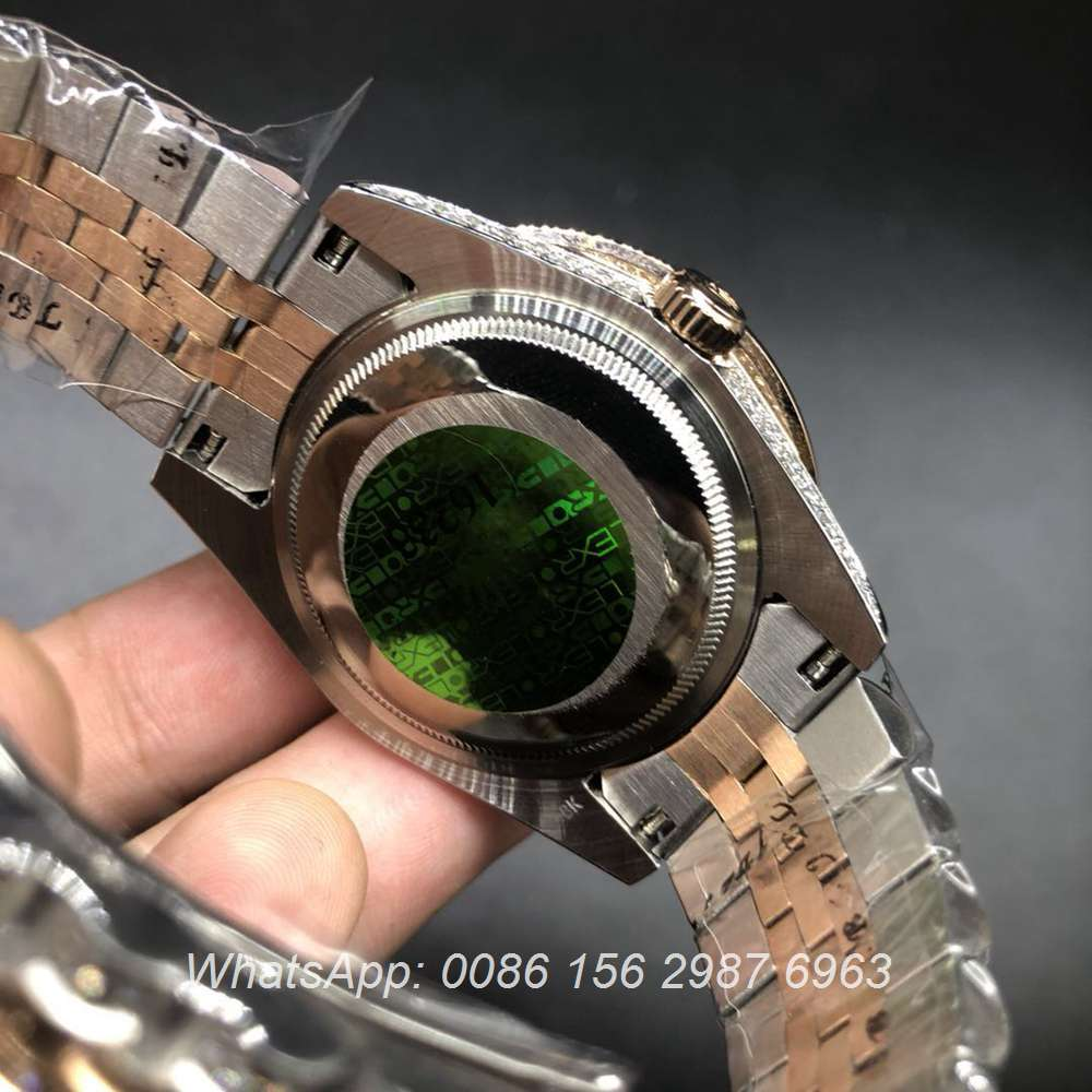 R105MH191, Datejust iced rose gold 2tone jubilee strap automatic 40mm