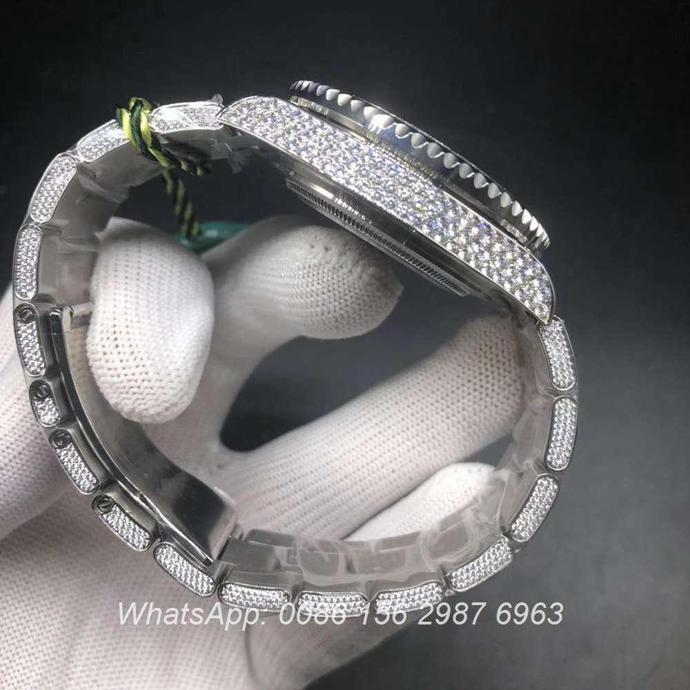 R305WT186, Rolex GMT diamonds 2836 full works luxury watch