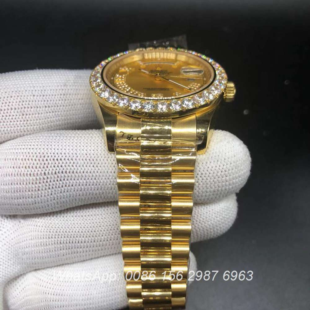 R125WS187, DayDate gold case Asian 2836 high grade Swiss watch