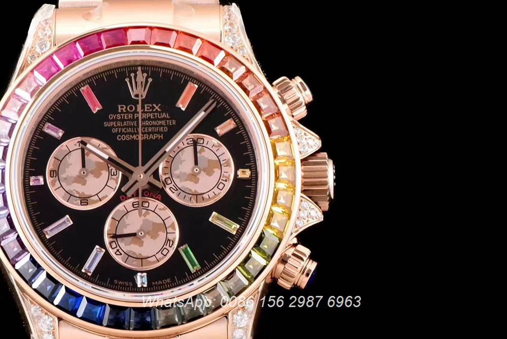 R170M202, Daytona rainbow rose gold JH factory Cal.4130