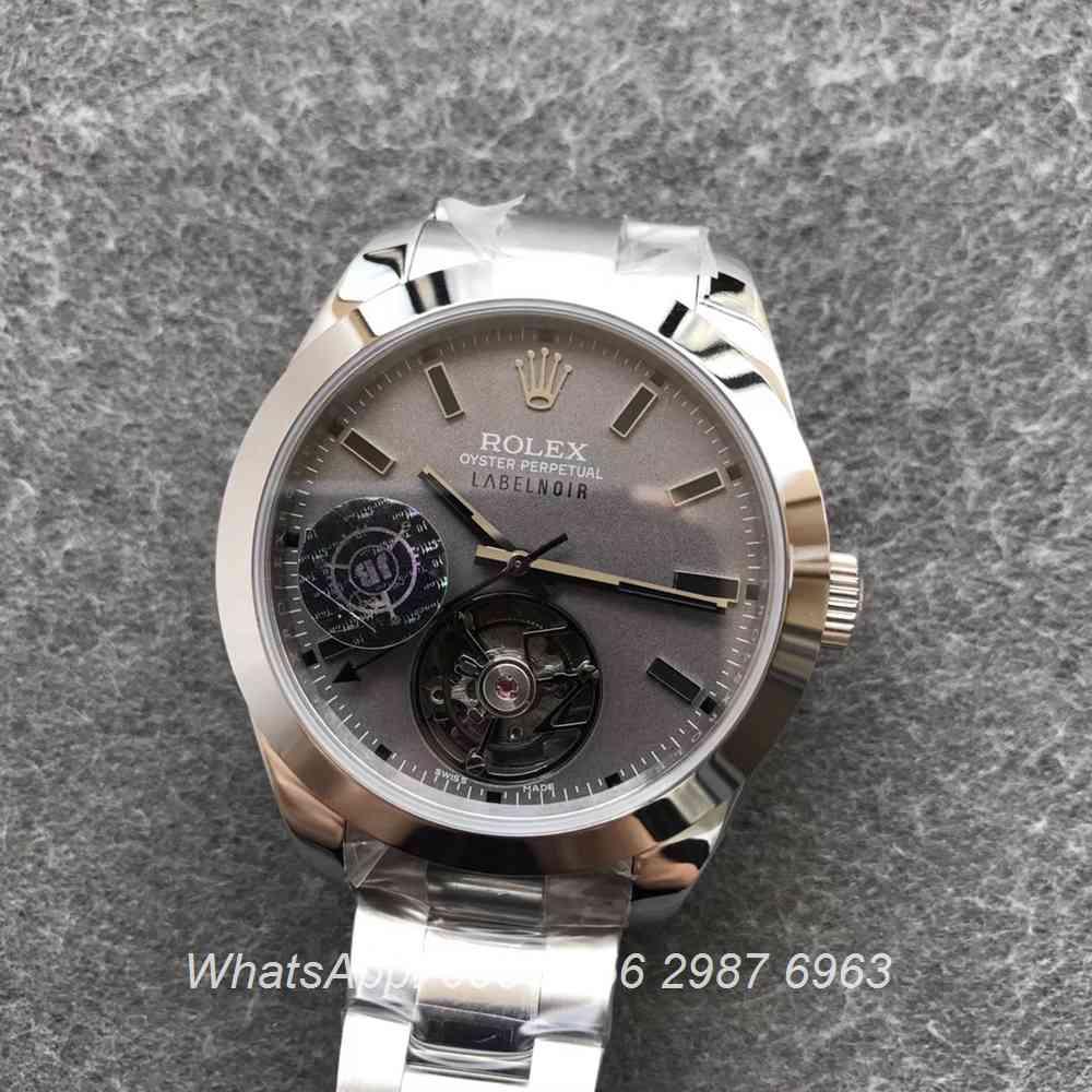R385WT206, Milgauss silver 116400 Tourbillon Label Noir JB factory