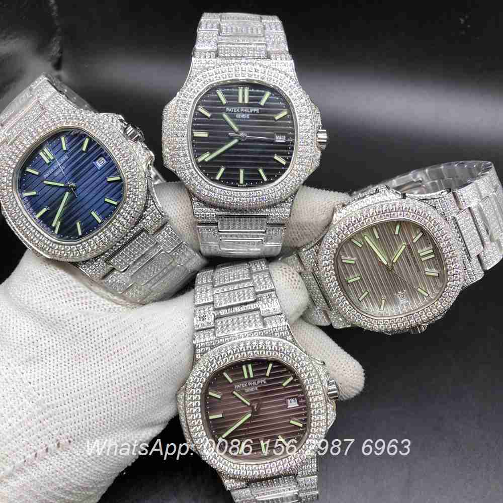 P120M199, Patek diamonds 8215 automatic different color dials all available