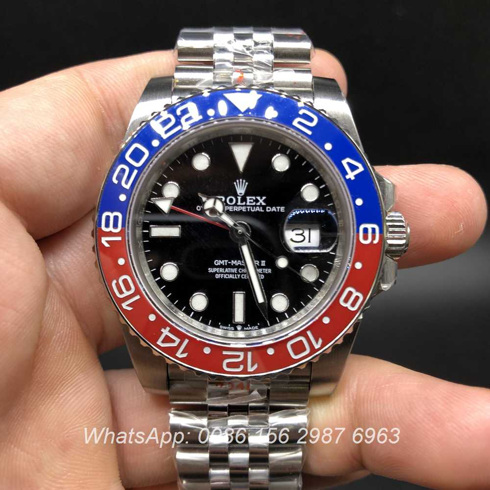 R185WT209, GMT Jubilee ceramic red/blue bezel 2836 GM facotry 904