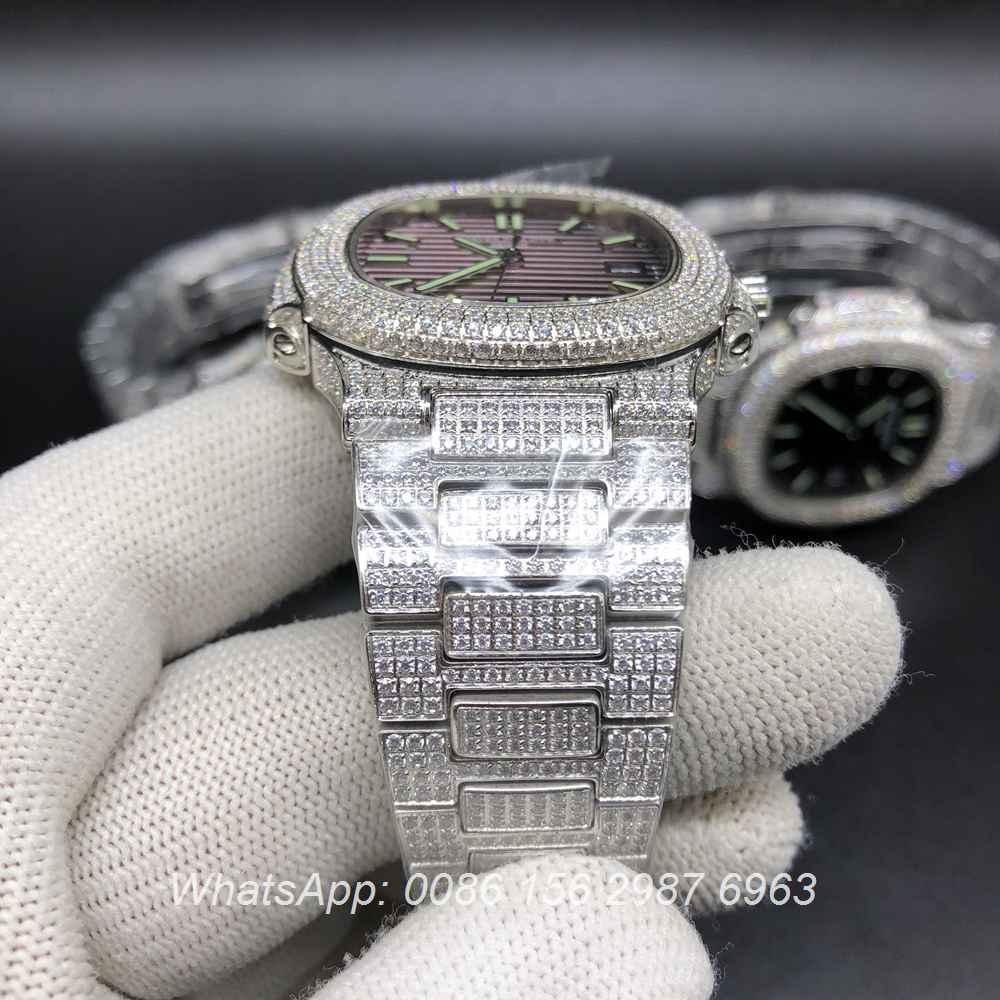 P120M199, Patek diamonds 8215 automatic different color dials all available