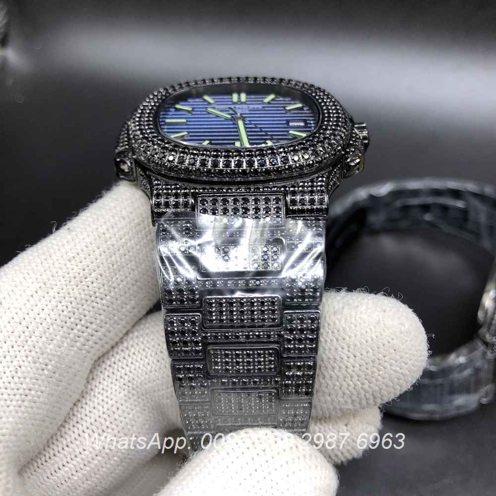 P120M201, Patek diamonds black case automatic 8215 high quality