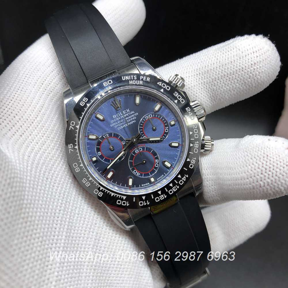 R330WT198, Daytona 904L steel blue dial Noob factory 4130 full works