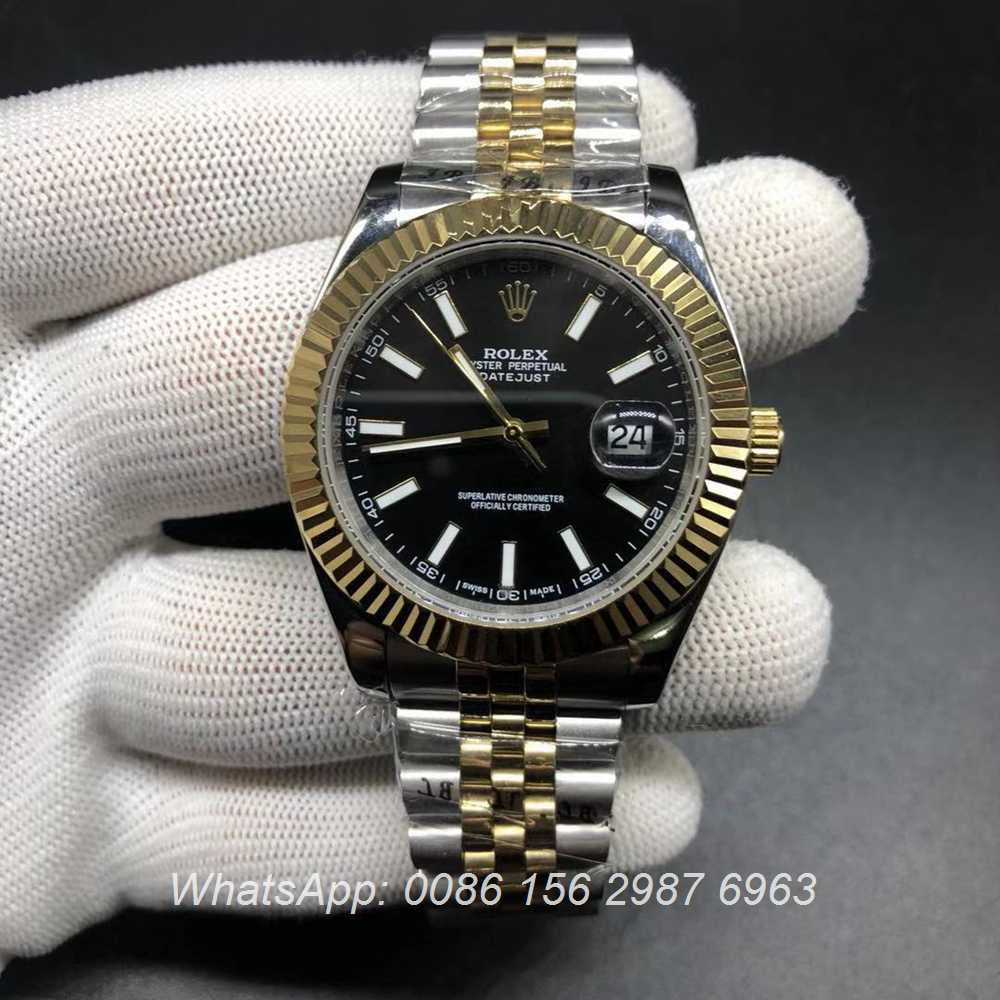 R024S197, Datejust 2tone gold fluted bezel jubilee strap