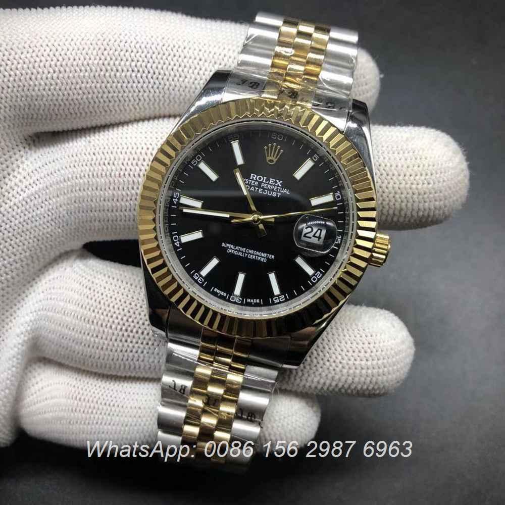 R024S197, Datejust 2tone gold fluted bezel jubilee strap