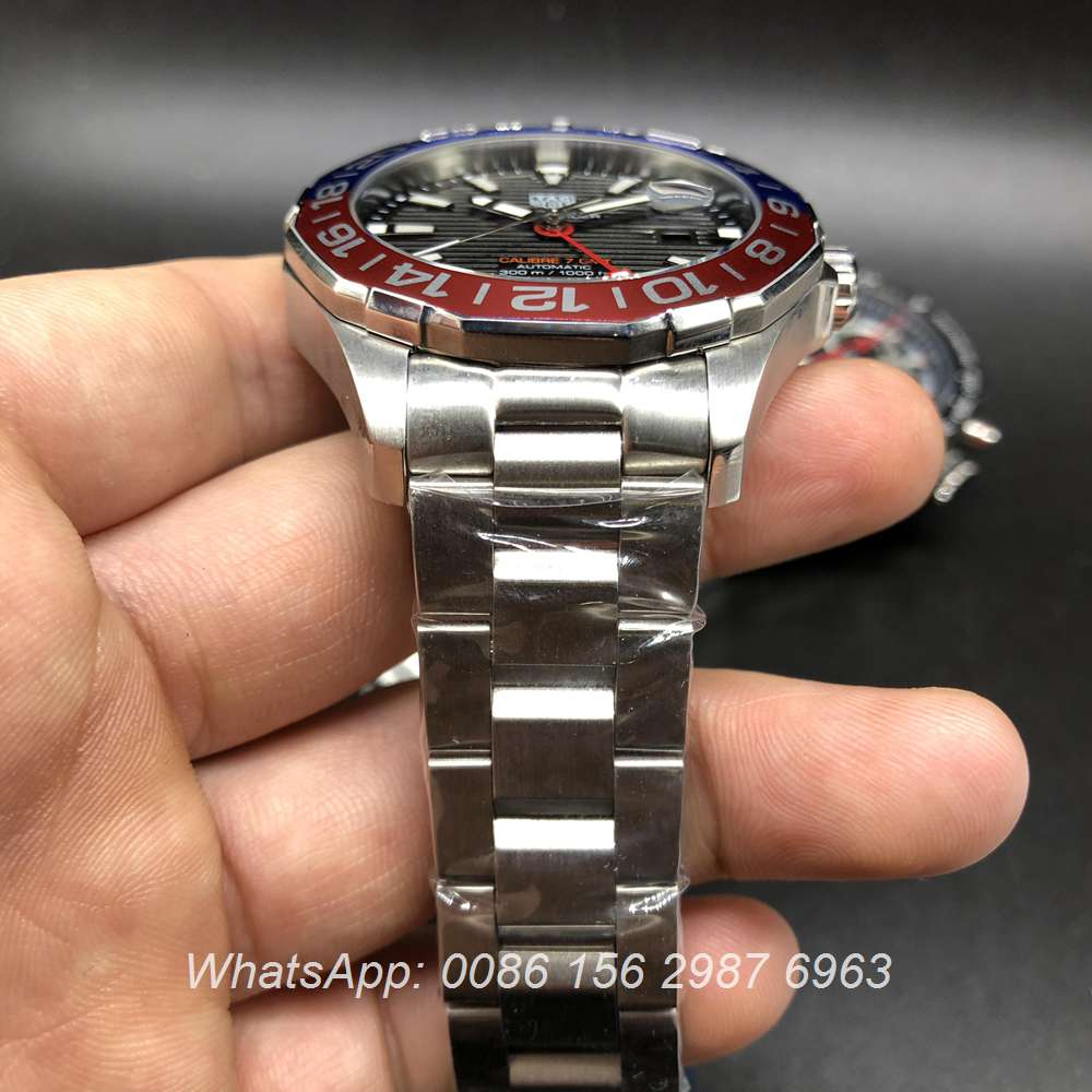 T040DF211, TAG Heuer Calibre 7 GMT automatic AAA high quality red/blue bezel