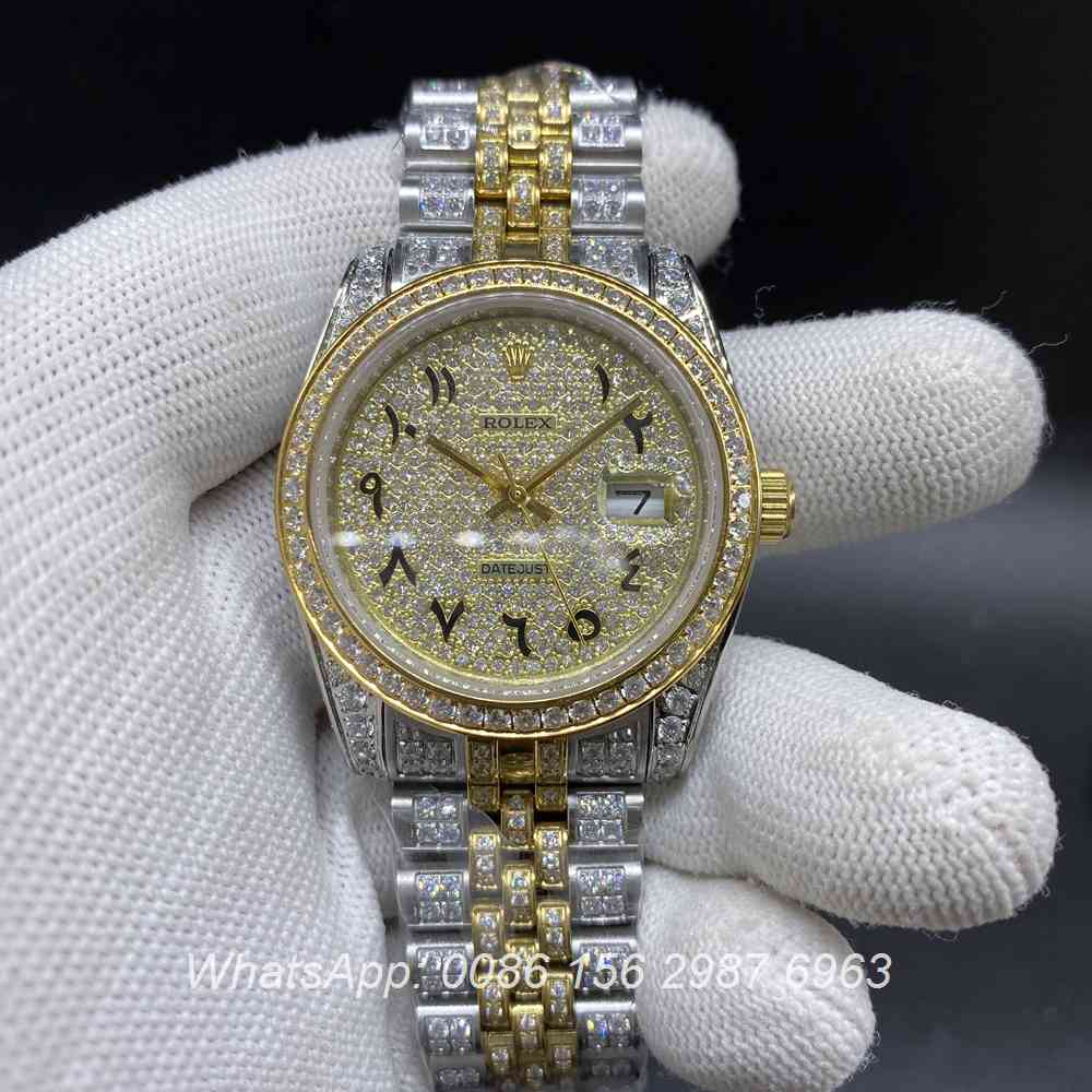 R105MH214, Datejust arabic numbers 2tone gold case 37mm jubilee strap