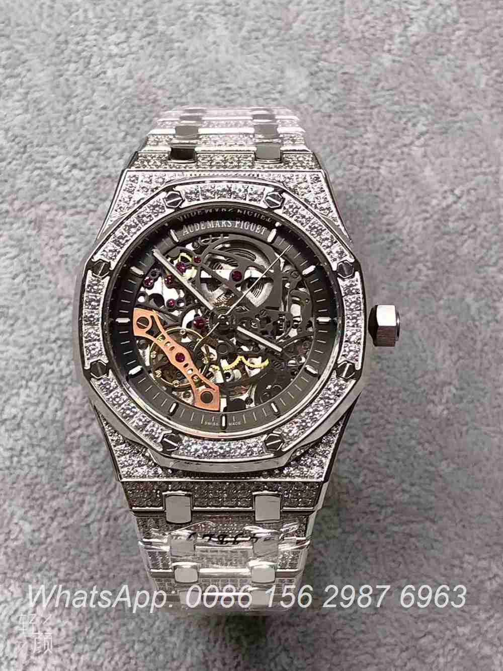 A115YC245, AP diamonds case 42mm skeleton AAA automatic watches